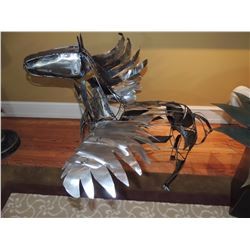 Metal Horse with wings sculpture $250 to $500