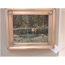 Oil Painting,  Outlet Swan Lake  by Robert F Morgan - Signed 16 H x 20 W $1200 to $2400