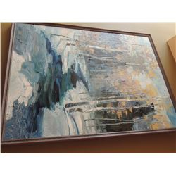 Oil Painting,  Winter Retreat  by Troy Colin - Signed.  40 H x 30 W $300 to $600