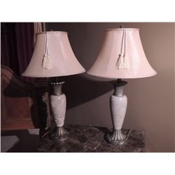Pair of Marble Lamps with shades $125 to $250