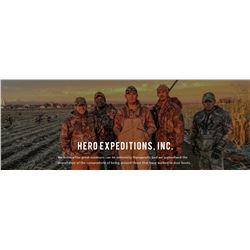 Waterfowl hunt with Hero Expeditions 2 days 2 hunters