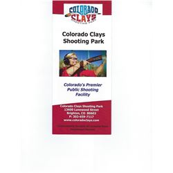 Colorado Clays $40.00 gift certificate