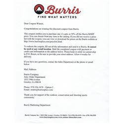 Burris Optics 50% off MSRP Coupon.  Item #1