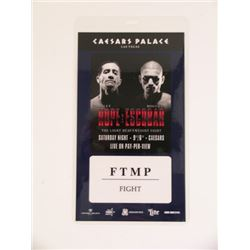 Southpaw Lot of 29 Fight Passes Movie Props