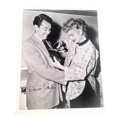 Dann Cahn w/ Lucille Ball Signed Photo