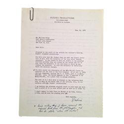 Howard Hughes Handwritten Original Collier's Article