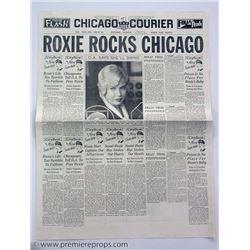 Chicago Roxie Rocks Chicago Newspaper Movie Props