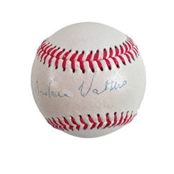 Barbara Walters Signed Baseball