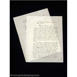 Chocolat Comte (ALFRED MOLINA) Handwritten Letter Movie Props