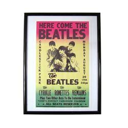 The Beatles Framed Billboard