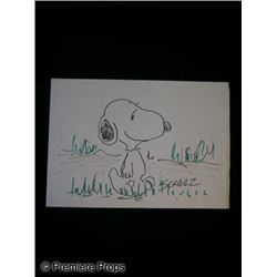 Charles Schulz original Snoopy Sketch