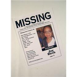 Prisoners Joy Birch Missing Flyer Movie Props