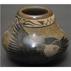 SANTA CLARA POTTERY JAR (NARANJO)