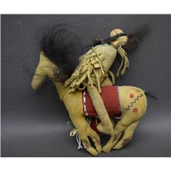 PLAINS BEADED HORSE AND RIDER