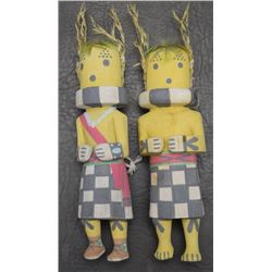 TWO HOPI KACHINAS (POLEHALA)