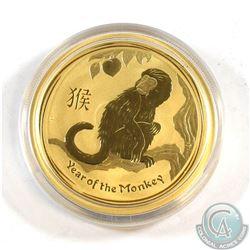 Australia; Perth Mint 2016 1oz Year of the Monkey Pure gold coin issued by the Perth Mint, Australia