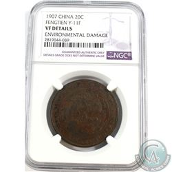 China; 1907 20C Fengtien Y-11F NGC Certified VF Details Environmental Damage