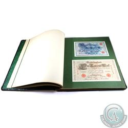 Germany; Bound Binder with 88 different mounted German Banknotes ranging in date from 1914 to 1923.
