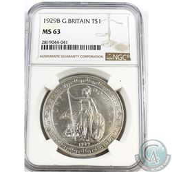 Great Britain; 1929B T$1 NGC Certified MS-63