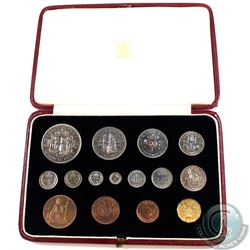 Great Britain; 1937 King George 6th Coronation 15-coin Proof Set in the original Royal Mint case. Sp