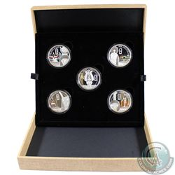 New Zealand; 2013 $2 Niue Limited edition  5-coin Fine Silver set featuring the Mythologies of the w