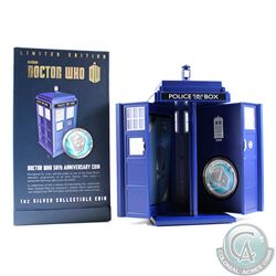 New Zealand; 2013 $2 Dr Who 50th Anniv. 1oz Silver Proof Coin (Tax Exempt)
