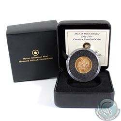 Canada 1913 $5 Hand-Selected Gold Coin. In all original Mint packaging.
