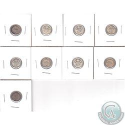 5-cent 1912 EF-AU, 1913 EF, 1914 VF-EF, 1915 VF-EF, 1916 VF-EF, 1917 VF-EF, 1918 EF-AU, 1919 EF & 19