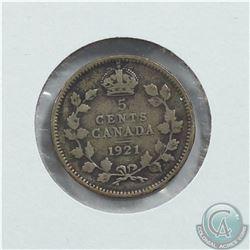 5-cent 1921 5-cent VG-8