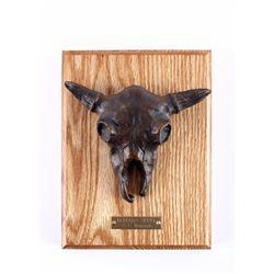 G.C. Wentworth Buffalo Skull Bronze Sculpture