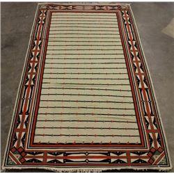 Large Zapotec Hand Woven Wool Rug