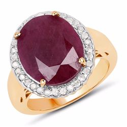 STERLING SILVER INDIAN RUBY RING