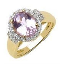 STERLING SILVER KUNZITE RING