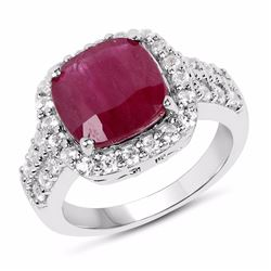 STERLING SILVER RUBY RING