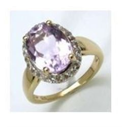 STERLING SILVER PINK AMETHYST RING