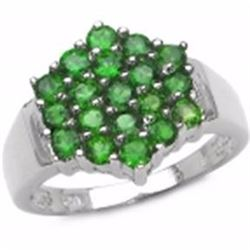 STERLING SILVER CHROME DIOPSIDE RING