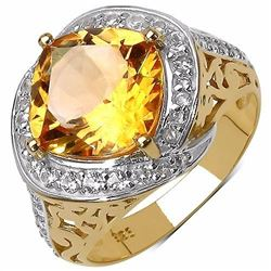 STERLING SILVER GOLDEN CITRINE RING