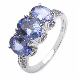 STERLING SILVER TANZANITE RING