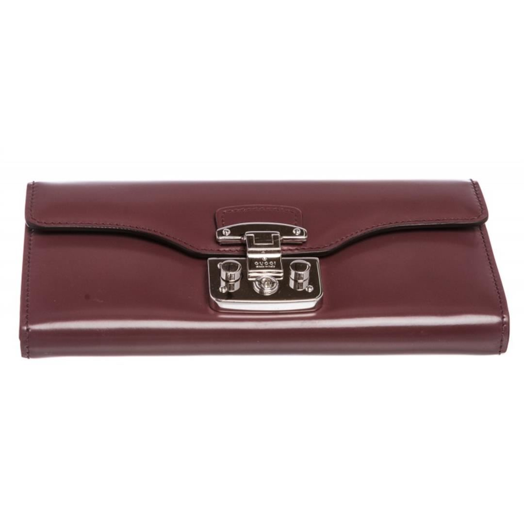 936ff959ea6f32 Gucci Purple Leather Padlock Continental Wallet