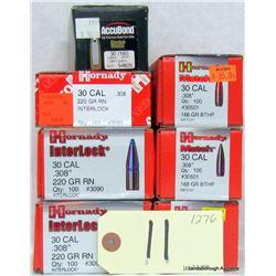 526 PCS 30 CAL. .308 PROJECTILES