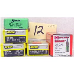 318 PCS 25 CAL .257 PROJECTILES