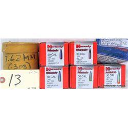 650 PCS 30 CAL .308 PROJECTILES