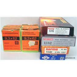 136 RNDS FACTORY 9.3 X 62 AMMO