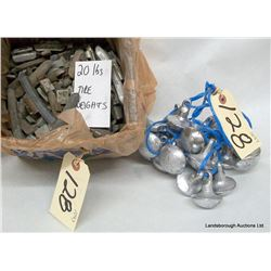 LEAD WEIGHTS AND OIL