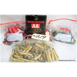 RELOADED SHOTSHELLS AND RIFLE BRASS