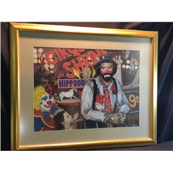SHELDON C. SCHONEBERG, FRAMED ORIGINAL PASTEL, CIRCUS SHRINE PAINTING, SIGNED BY ARTIST ON LOWER