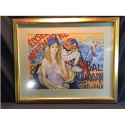 SHELDON C. SCHONEBERG, FRAMED ORIGINAL PASTEL, ELYSEE MONTMARTRE PAINTING, SIGNED BY ARTIST ON