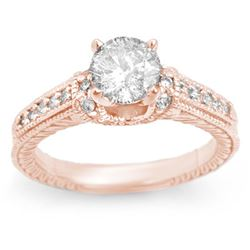 1.50 CTW Certified VS/SI Diamond Ring 14K Rose Gold - REF-376A9V - 11267