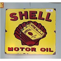 SHELL MOTOR OIL PORCELAIN REPRODUCTION SIGN