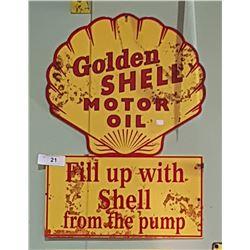 GOLDEN SHELL MOTOR OIL SST SIGN
